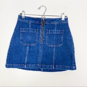 Madewell Denim Zip Mini Utility Skirt 28